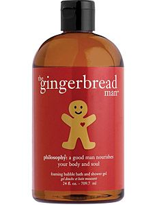 philosophy gingerbread man bath gel...it's my fav!