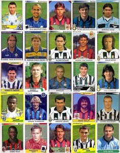 throwback: when almost every Serie A team had a great player. Best Football Players, Football Cards, Soccer Players, Football Soccer, Marco Van Basten, Roberto Baggio, Andrea Pirlo, Edgar Davids, Messi And Ronaldo