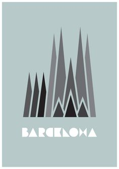 Love this design of the Sagrada Familia Barcelona Travel, Barcelona Spain, Gaudi, Typography Inspiration, Graphic Design Inspiration, Barcelona Tattoo, City Logo, Pub, Wall Tattoo