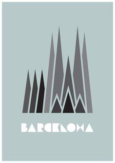 Love this design of the Sagrada Familia
