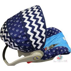 Love the anchors   Navy Nautical Infant Car Seat Cover by sewcuteinaz on Etsy, $65.00