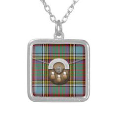 7b6a5b922 Clan Anderson Tartan And Sporran Square Pendant Necklace Ancestry, Tartan,  Celtic, Coin Purse