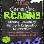 264 Reading Response sheets for every #commoncore Reading Literature ELA standard K-2. TpT Bestseller