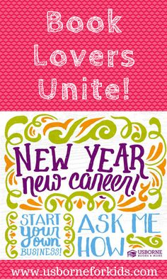 New Year New Career! Join in the fun and find out what Usborne Books & More has to offer you! Here's a sneak peek into my experience.