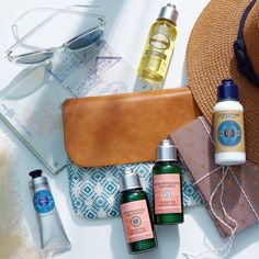 """Did somebody say """"weekend""""?! Our bags are packed and we're ready to explore new landscapes ✈️ But we're not leaving without our travel essentials for hair, hands and body! #LOccitane #Travel #BodyCare #HairCare #HandCare #TGIF"""