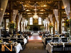 Dining room at Timber Ridge, a wedding venue in Keystone, Colorado. Photo courtesy of IN Photography. #mountainwedding