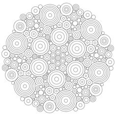 Concentric circles are easy to do but turn out looking awesome