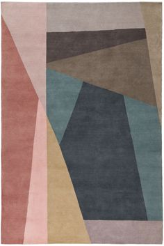 Split Bright rug designed by fashion designer Paul Smith for London-based the Rug Company.