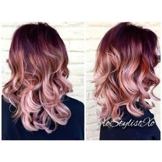 Blush Sombre - Rose Gold Hair Ideas That'll Have You Dye-Ing For This Magical Color - Photos