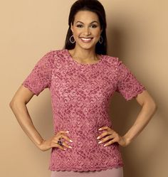 Misses' Lace Top, B6100 http://butterick.mccall.com/b6100-products-48795.php?page_id=147 #butterickpatterns