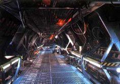 sci-fi alien corridor - Buscar con Google