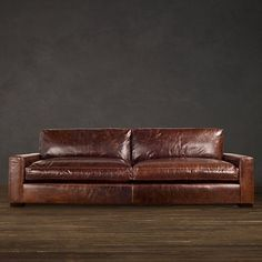 MY SOFA! : Maxwell Leather Sofas (Perfect arm rest heigh for laying your head down. Long enough to lay down. Oh-so Comfortable to sleep on. The best.) #leathersofa