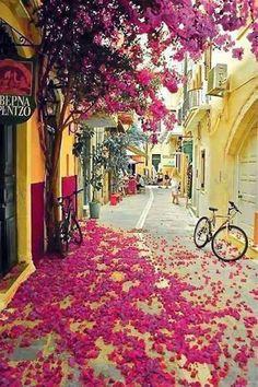 Beautiful street in Greece
