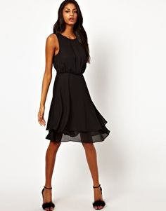 Enlarge ASOS Skater Dress With Double Skirt
