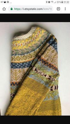 Crochet Patterns Pullover Ravelry: brendadada's Lovage From The Top Punto Fair Isle, Tejido Fair Isle, Motif Fair Isle, Fair Isle Pattern, Fair Isle Knitting, Hand Knitting, Fair Isle Pullover, Moda Boho, Pulls