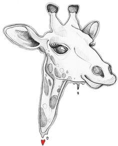 giraffe Art Print by C.Pro | Society6