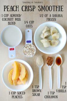 Peach Crisp Smoothie using @lovemysilk Almond/Coconut milk! Seriously tastes… by helga