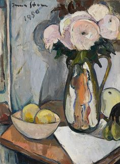 Buy online, view images and see past prices for Irma Stern, Still life with Chrysanthemums in the artist's handmade ceramic jug. Invaluable is the world's largest marketplace for art, antiques, and collectibles. Fruit Bowl Drawing, Still Life Artists, Still Life Drawing, Colorful Artwork, Impressionist Art, Global Art, Painting Inspiration, Watercolor Paintings, Art Projects