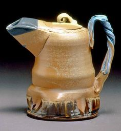 Frank Martin,  Refrigerator Pitcher - 1990 | Flickr - Photo Sharing! Frank Martin, Gravy Boats, Ceramic Teapots, Chocolate Pots, Teacups, Cup And Saucer, Refrigerator, Tea Pots, Bottles