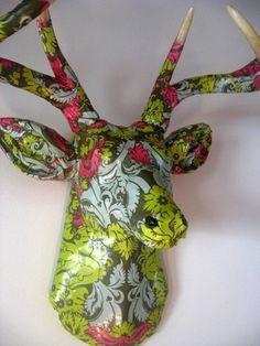 Paper Deer Head Project by artist Jennifer Khoshbin