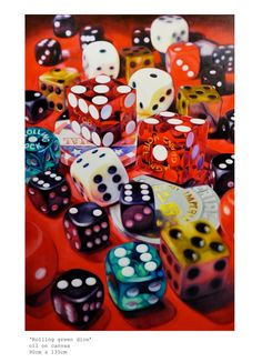 """""""'Rolling Rock Dice' / Oil on canvas - by Kate Brinkworth"""