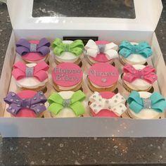 Jojo bow cupcakes