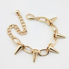 $3.41 Punk Rivet Embellished Bracelet For Women