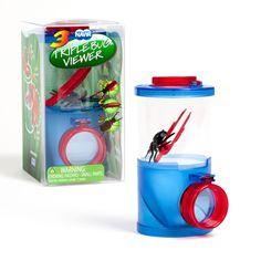 Boîte loupe triple - Une loupe triple adaptée aux petits explorateurs qui permet des observations d'insectes facilement - 9,95 €