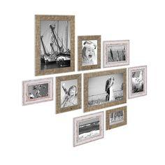 Vintage und Strandhaus Bilderrahmen kombiniert