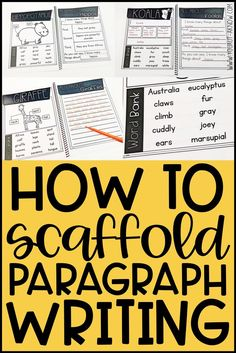 How to Scaffold Paragraph Writing for Special Education Moving from writing sentences to writing paragraphs is a big leap for many of our students. I've found that putting some simple scaffolds in place helps. Writing Curriculum, Writing Lessons, Writing Resources, Teaching Writing, Writing Skills, Writing Activities, Writing Prompts, Kindergarten Writing, Writing Rubrics