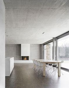 Architecture and Interior Design Interior Minimalista, Minimalist Interior, Minimalist Home, Simple Interior, Interior Styling, Interior Architecture, Interior And Exterior, Concrete Interiors, Tadelakt