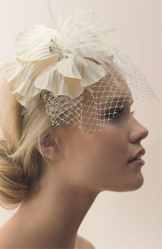 Tasha 'Perfect Veil' Headband #wedding