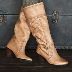 These boots are so unique with a heel that's not too tall and a color that matches everything.
