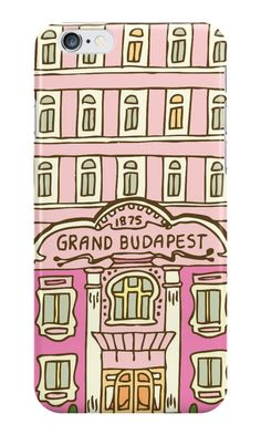 """""""The Grand Budapest Hotel"""" iPhone Cases & Skins by evannave Wes Anderson Movies, Grande Hotel, Grand Budapest Hotel, Sketch Inspiration, Animation Film, Film Posters, Apple Candy, Branding Design, Cinema"""