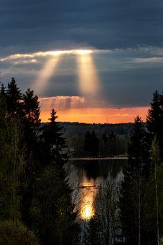 """500px / Photo """"The last light."""" by Olli Toivonen; Finland"""