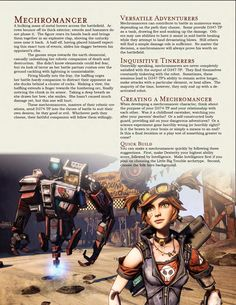 DnD Homebrew — Mechromancer Class by Dungeons And Dragons Rules, Dungeons And Dragons Classes, Dnd Dragons, Dungeons And Dragons Homebrew, Tabletop Rpg, Tabletop Games, Character Concept, Character Creation, Game Concept