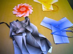 """ISSEY MIYAKE """"FOLDS"""" ORIGAMI CLOTHES AGAIN. 132 5. SPRING SUMMER 2012."""