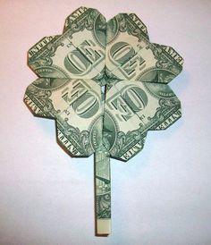 easy dollar bill origami - Google Search