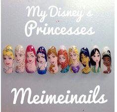 Princesses nail art