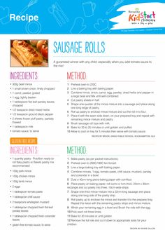 Sausage Rolls - A guaranteed winner with any child, especially when you add tomato sauce to the mix! Gluten free option included.