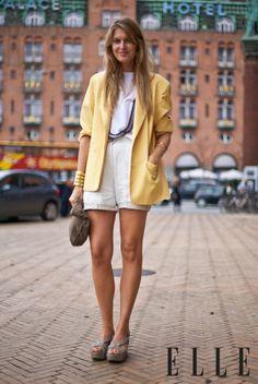Yellow Blazer Suede Clutch
