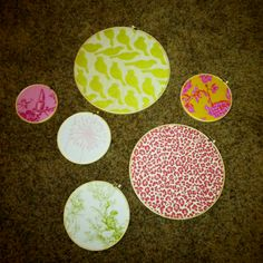 Easy fabric circles for baby's room!