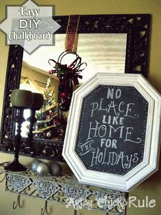 DIY Chalkboards From Old Pictures.DIY Ideas To Brilliantly Reuse Old Picture Frames Into Home Decor. Very Creative! Diy Tableau Noir, Cadre Photo Diy, Recycled Crafts, Diy Crafts, Old Picture Frames, Diy Chalkboard, Ideas Geniales, Frame Crafts, Diy Recycle
