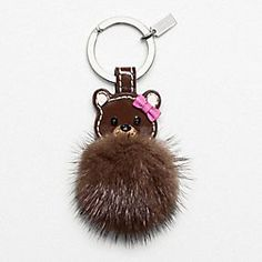 MINK BEAR COACH KEY RING.. ohemmgee this is the CUTESSTTT thinng in the worrrlddd <3 <3 <3