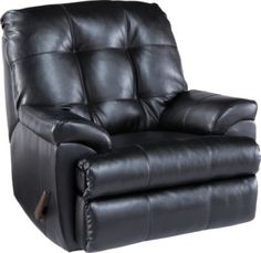 shop for a angelo bay onyx blended leather rocker recliner at rooms to go find
