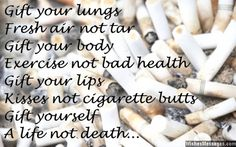 Quit Smoking Tips. Kick Your Smoking Habit With These Helpful Tips. There are a lot of positive things that come out of the decision to quit smoking. You can consider these benefits to serve as their own personal motivation Quit Smoking Quotes, Quit Smoking Motivation, Help Quit Smoking, Giving Up Smoking, Smoking Effects, Anti Smoking, Smoking Lungs, Quitting Cigarettes, Cigarette Quotes