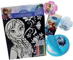 Disney Frozen On-The-Go Set 5 Items - Velvet Coloring Poster, Snack Container, Pack of travel Tissues, 2 Magic Expanding towels Snack Containers, Poster Colour, Disney Frozen, Towels, Coloring, Teen, Velvet, Magic, Activities