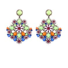 Orecchino Clivia - variante azzurro Earrings, Accessories, Jewerly, Ear Rings, Stud Earrings, Ear Piercings, Ear Jewelry, Beaded Earrings Native, Pierced Earrings