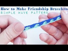 Here's an easy to follow tutorial on how to make this simple wave pattern friendship bracelet. It's a fairly simple, easy pattern to follow, and only has 12 ...