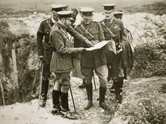 Wartime King: King George visits the front in France, Due to his blood ties, the King held honorary ranks as a German Field Marshal and as a colonel of German regiments, and was consequently fitted out for Teutonic uniforms Wilhelm Ii, Kaiser Wilhelm, World War One, First World, Battle Of The Somme, King George, History Facts, Military History, Wwi